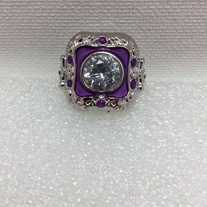 Jewelry - Purple Enamel StatementRing 6.5 (422)